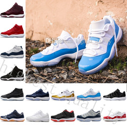 Wholesale Velvet Fabrics - 2018 NEW Gym Red basketball shoes 11 university blue white Silver Navy Gum blue Metallic Gold Velvet Heiress space jam bred sports Sneaker