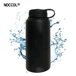 Wholesale Hot Water Hand Warmer - NOCCOL 32oz Black Vacuum Water Bottle Eco Friendly Outdoor Insulation Stainless Steel Drink Flask Camping Kettle Large Capacity