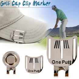 2019 marcadores de bola Tampão de golfe Clipe Marcador com Cap Clipe Bola de Golfe Apontando Marcador Liga Kits de Treinamento de Golfe Profissional Ímã Clipe revestimento de cromo NY055 marcadores de bola barato
