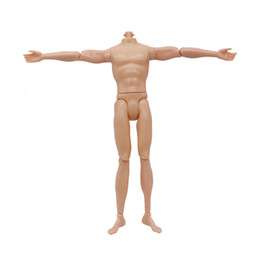 Wholesale Plastic Doll Bodies - 14 Moveable Jointed Nude Doll 30cm Doll Boy Naked Body Toy Male Ken Boyfriend DIY Toys Body Baby Toys Kids Anime