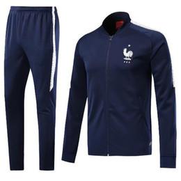 Wholesale Men S Uniform Jackets - 2018 world cup Frances Soccer Jacket GRIEZMANN Football Training Suit Top quality France POGBA TrackSuit survetement Maillot Shirts uniform
