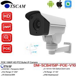 Poe ballet ao ar livre on-line-Nova DM-SCB415IP-POE-V10 1080 P HD 1080 P CCTV Bala Ao Ar Livre IP Câmera 10X Zoom Ótico IR MINI Câmera de Segurança P2P PTZ Com POE