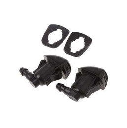 accesorios para camry Rebajas 2 Unids Forma de Ventilador Parabrisas Limpiaparabrisas Arandela Boquilla Aerosol Para Toyota E120 Corolla Camry XV30 Coche Parabrisas Accesorios Nuevo C45
