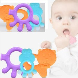Wholesale dental toys - baby cartoon silicone palm teether teething toys Food Grade Baby Dental Care Safety Teether 9 DESIGN KKA4052