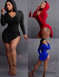красное платье для клуба xl Скидка womens wrap dress long толстовка толстовки боковой разрез капюшоном пальто верхняя одежда sexy night club party dress bodycon юбка черный красный синий s-2XL топы