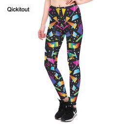 coole druckgamaschen Rabatt Qickitout Leggings Fitness Frauen Gradient Form Farbe Legging Sexy Mode Stretch Digitaldruck Hosen Kühlen Hosen Großhandel