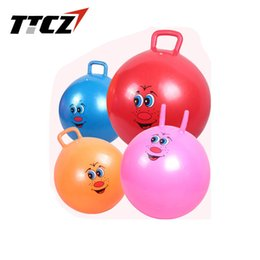 Wholesale Yoga Toy - Hop Ball Bouncing Toy 55cm gym ball with handle cavel children play toy yoga