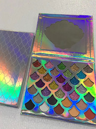 Wholesale eye shadow 32 color - Dropshipping Cleof Cosmetics The Mermaid Glitter Palette shimmer Eye Makeup 32 color Eye shadow Palette with mirror