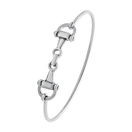 2019 charme armband haken verschluss Freies Verschiffen-Großverkauf-europäisches Mode-Pferd-Trense-Stück-einfache Haken-Haken-Charme-Armband-Armband-fördernde Geschenke günstig charme armband haken verschluss