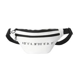 Cinto de carta branca on-line-Cintura das mulheres Saco do ombro fanny belt pack Número Peito preto branco pequeno luxo bolsa de grife sacos para mulheres 2018 PU carta