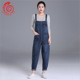 7d16ff5e0fa European Style Boyfriend Women Denim Overalls High Waist Straps Jumpsuit  Female Girl Loose Jeans Pants Plus Size S M L Xl Befree Y1891105
