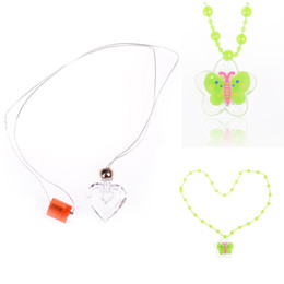 Wholesale Led Light Up Necklace - Hot Trend Creative Luminous Necklace Toys Party Light Up Flashing Cartoon Led Necklace