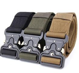 Wholesale heavy leather belt - SWAT Military Equipment Knock Off Army Belt Men's Heavy Duty US Soldier Combat Tactical Belts Sturdy 100% Nylon Waistband 4.5cm