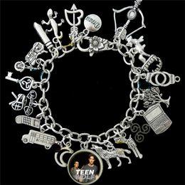 2019 jugendlich charmearmband 12pcs Teen Wolf inspiriert Charm Armband Silberton günstig jugendlich charmearmband