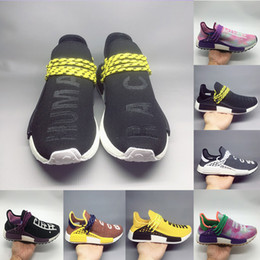 9e91234735abc High Quality Human Race Pharrell Williams Hu trail NERD Men Womens Casual  Shoes white noble ink core Black Red sports Shoes sneaker