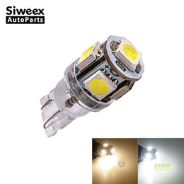 Wholesale truck marker lamps side - W5W T10 5SMD 5050 Car LED Bulb License Plate Truck Lamp Dome Door Side Marker Light Warm white White 24V