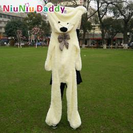 """Плюшевые медведи онлайн-Niuniu Daddy200cm / 79 """" Дюймов, Большие Плюшевые Игрушки, Полумануфактурный Медведь, Плюшевый Медведь Кожи, Плюшевые Плюшевые Мишки Кожи, Бесплатная Доставка"""