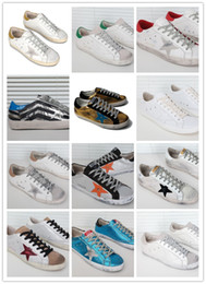 Wholesale Donna Brown - Italy Brand Do The Old Shoes Genuine Leather Super Star Low Sneaker Womens All White Couples Shoes Donna Scarpe New