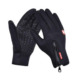 Wholesale Gloves For Bicycle - Outdoor Sports Hiking Winter Bicycle Bike Cycling Gloves For Men Women Windstopper Simulated Leather Soft Warm Gloves