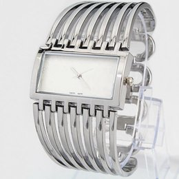 Wholesale Ladies Watch Faces - 2018 Fashion Top Brand women watch stainlessSteel square face wristwatch Lady Dress Watch Quartz Clock free shipping Relojes De Marca Mujer