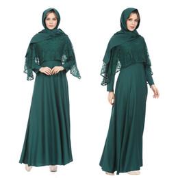 Elegante adultos Musulmanes Abaya Vestidos de las mujeres Ropa de manga larga Moda islámica musulmán Maxi Vestido largo de los vestidos de gasa desde fabricantes