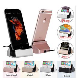 Canada Base de chargement Station d'accueil pour iPhone X 8 7 6 Câble USB Station d'accueil Sync Chargeur Base pour Android Type C Support de support Samsung Offre