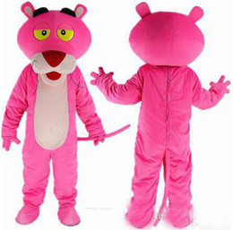 Wholesale Adult Rainbow Costume - NEW colours rainbow The pink panther Cartoon Mascot Costume Adult Size Fancy Dress fancy dress EPE head carnival costume party free shipping