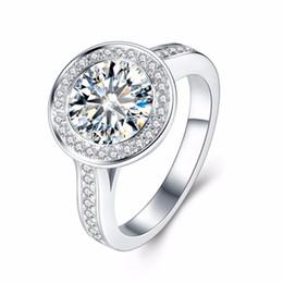Anello con diamante moissanite 5 carati ct 11mm taglio rotondo lab diamante solitaine in oro bianco 14K 585 fidanzamento per donna S923 supplier 14k round cut diamond engagement ring da anello di fidanzamento del diamante taglio rotondo 14k fornitori
