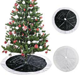 Grande stella di natale online-Gonna per albero di Natale Xmas Ornament 90cm Large Grey Star Peluche Embroidery Skirt per la decorazione di Capodanno