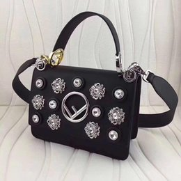 Wholesale Imports Europe - Handbags Europe and the United States imports of high-end leather cowhide drill flower hardware circle flip hand shoulder slung 25cm