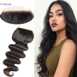 2019 новые пароли 100% бразильский человека девственные волосы кружева закрытие топ закрытие человеческих волос расширения тела волна DHL Бесплатная доставка