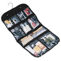 Wholesale Hanging Makeup Case - Travel Wash Portable Organizer Case Cosmetic Makeup Zipper Bathroom Hanging 58 * 35cm Hanging Organizer For Toiletries Jewelry