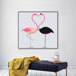 Wholesale Full Craft - Frameless Flamingo Cross Stitch Full Drill DIY Round Diamond Paintings Home Decor Arts And Crafts Gift 40bn C R