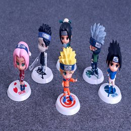 Wholesale cm fire - Fire Shadow Ninja Characters Handles Cartoon Peripheral Toys Dolls PVC Material Car Furnishing Articles Decoration Gifts