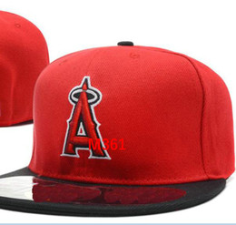 Wholesale Angels Braids - Angels Team Fitted hats Baseball Embroidered Team Letter Flat Brim Hats Baseball Size Caps Brands Sports Chapeu for men and women