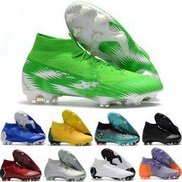 2018 Nouvelles chaussures de football Mercurial Superfly VI 360 Elite FG pour hommes SuperflyX KJ XII 12 Ronaldo 6 CR7 Chaussures de soccer Chuteiras Futebol Original ? partir de fabricateur