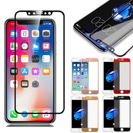 Wholesale iphone mirror lcd - Tempered Glass 3D 9H Full Screen Cover Cell Phone Explosion-proof LCD Screen Protector Film for iPhone X 8 Plus 7 6 6s