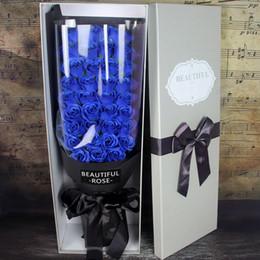 Cadeau De Noël De Saint Valentin Belle et Mignonne Roses Artificielles Bouquet De Toilettes Savon Boîte De Cadeau Cadeau D'anniversaire Créatif ? partir de fabricateur