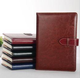 100 hojas cuaderno de negocios A5 agenda agenda Pu cuero cubierta dura diario personal Bloc de notas cuadernos papelería escolar desde fabricantes
