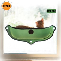 Wholesale high cat beds - High Quality Cat Hammock Bed Mount Window Pod Lounger Suction Cups Warm Bed For Pet Cat Rest House Soft And Comfortable Ferret Cage