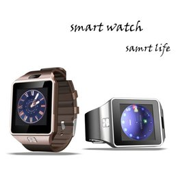 Wholesale Digital Camera For Vehicle - Bluetooth Smart Watch DZ09 Android Touch Screen Wrist Watch Digital TF Card For Samsung and IOS
