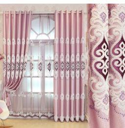 Estilo de la corte europea, cortinas de gama alta, telas, tapicería bordada cortina salón estudio balcón cero recorte desde fabricantes