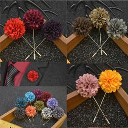 Karışık 25 Renkler Yüksek Kaliteli El Yapımı Kumaş Broş Çiçek Yaka Iğneler Moda erkek Takım Elbise Düğün Broş supplier brooches mixed colors nereden karışık renk broşları tedarikçiler