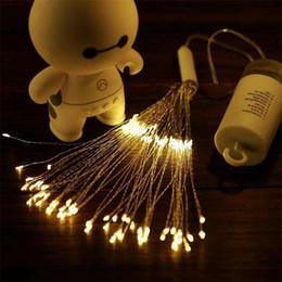 2019 luci del giardino di twinkle New Hanging Starburst Fairy Twinkle Lights 120 LED Bouquet Fuochi d'artificio Decor Lights Luci con telecomando per Garden Patio Feste nuziali luci del giardino di twinkle economici