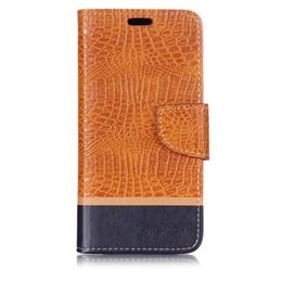 m1 teléfono móvil Rebajas Funda de color de empalme Funda para Asus ZenFone 4s Max Plus M1 X018DC ZB570TL Funda Filp Patrón de cocodrilo de cuero Bolsas para teléfonos móviles