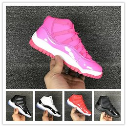 cheap for discount 357e0 cb30d 2018 Großhandel 11 Prom Night Kids Basketball Schuhe WIN LIKE 82 96  Mitternacht Navy UNC Gym Red 11s Concord Gezüchtet Turnschuhe Sport  Turnschuhe ...