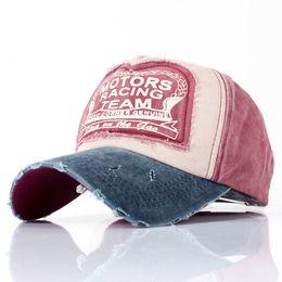 Baseball Hat Motors Racing Team Cotone lavato regolabile Cappelli Hip-Hop  Donna Uomo lettera Berretto da baseball Retro Gorro Dad Snapback Cap ba55271b35dc
