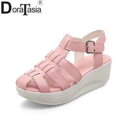 6e982d28aeb6 wholesale Big Size 33-43 Best Quality Summer Platform Gladiator Sandals  Shoes Women Leisure Casual Comfortable Woman Shoes