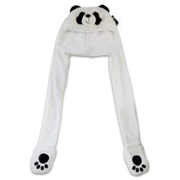 luvas de panda Desconto Um Panda Gorro + cachecol + luvas 3 Em 1 Crianças Bonitos Set Inverno Esqui