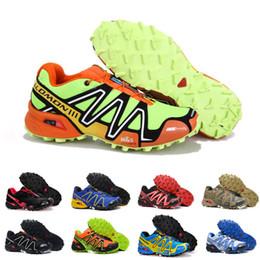 azul fluorescente Desconto 2018 Laranja Fluorescente Sapatos Salomon Men zapatos hombre Velocidade Cruz 3 CS III Tênis Esportivos Homens Velocidade cruz Salomão tênis 40-46